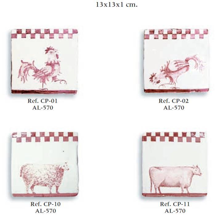 azulejos artesanos serie animales 01