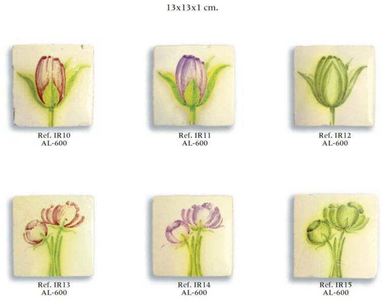 azulejos fabricados a mano serie floral 01