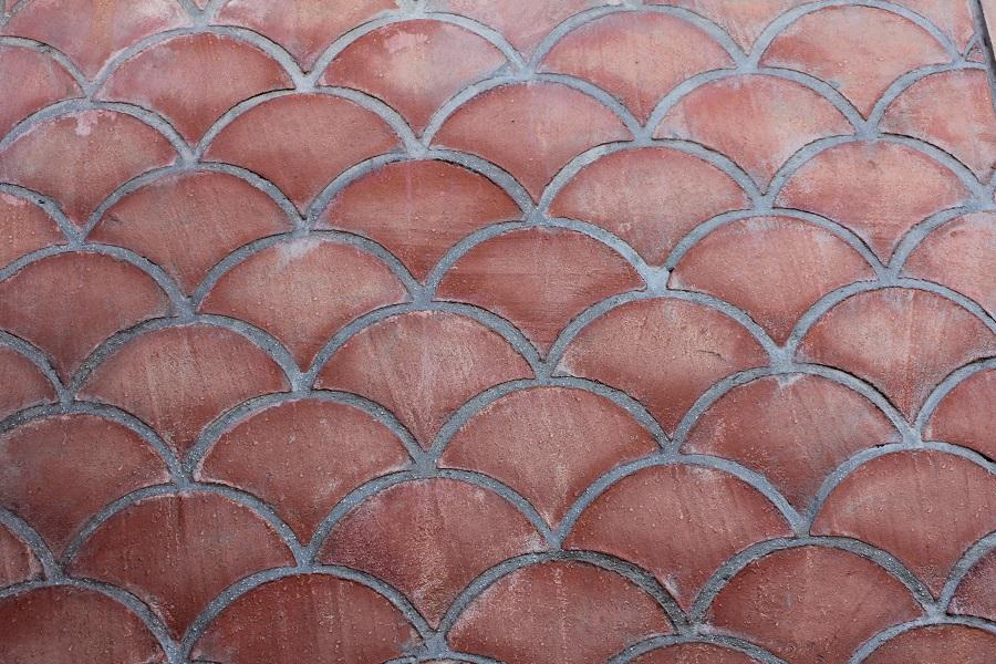 Suelo de barro combinación ondulado