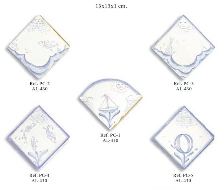 azulejo artesano serie marina 01