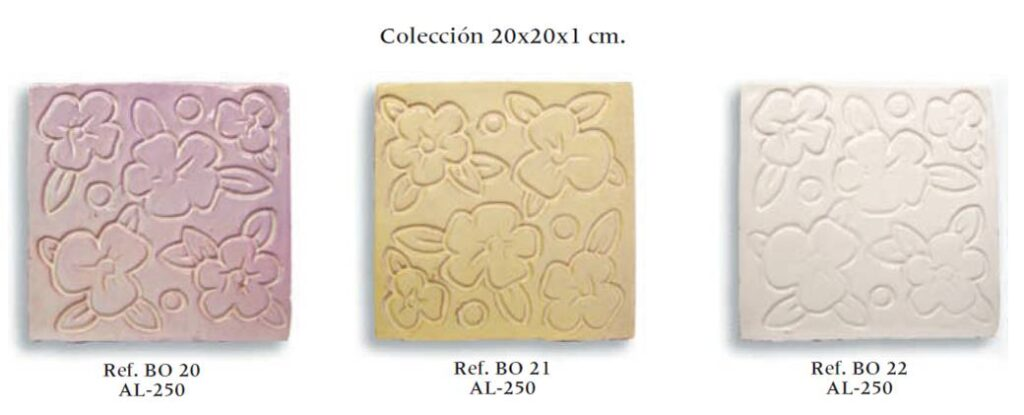 azulejo fabricado a mano serie relieve 02