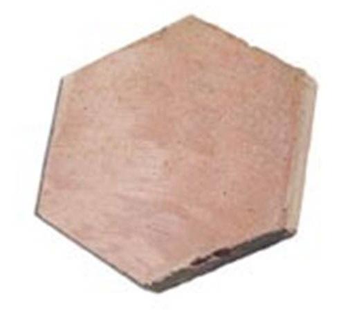 losa de barro tonalidad rojiza formato hexágono 01