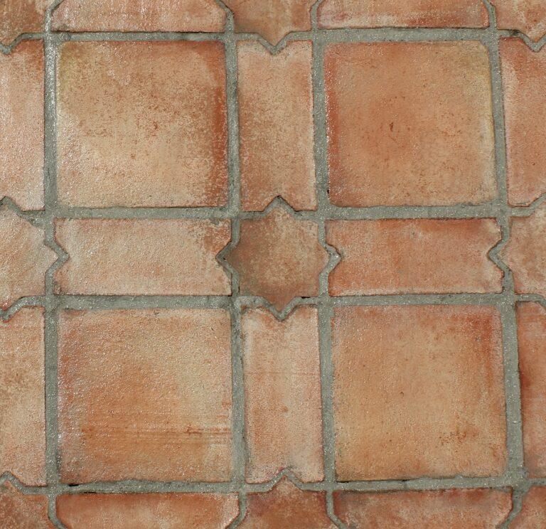 Suelo de barro tonalidad rojiza combinación mudéjar 01