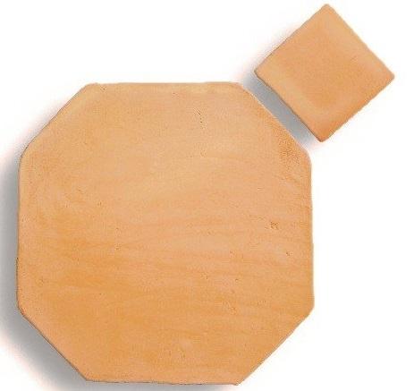 Suelo de barro tonalidad clara combinación octógono 01
