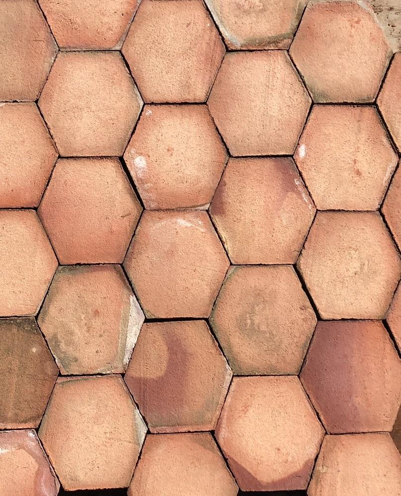 Mosaico Hexágono Asimétrico Composición Lineal 01