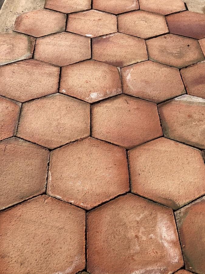 Mosaico Hexágono Asimétrico Composición Lineal 02