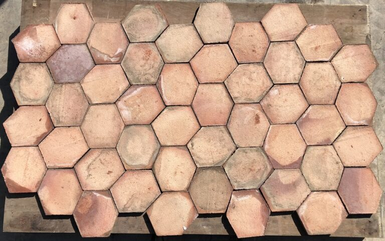 Mosaico Hexágono Asimétrico Composición Trabado 01