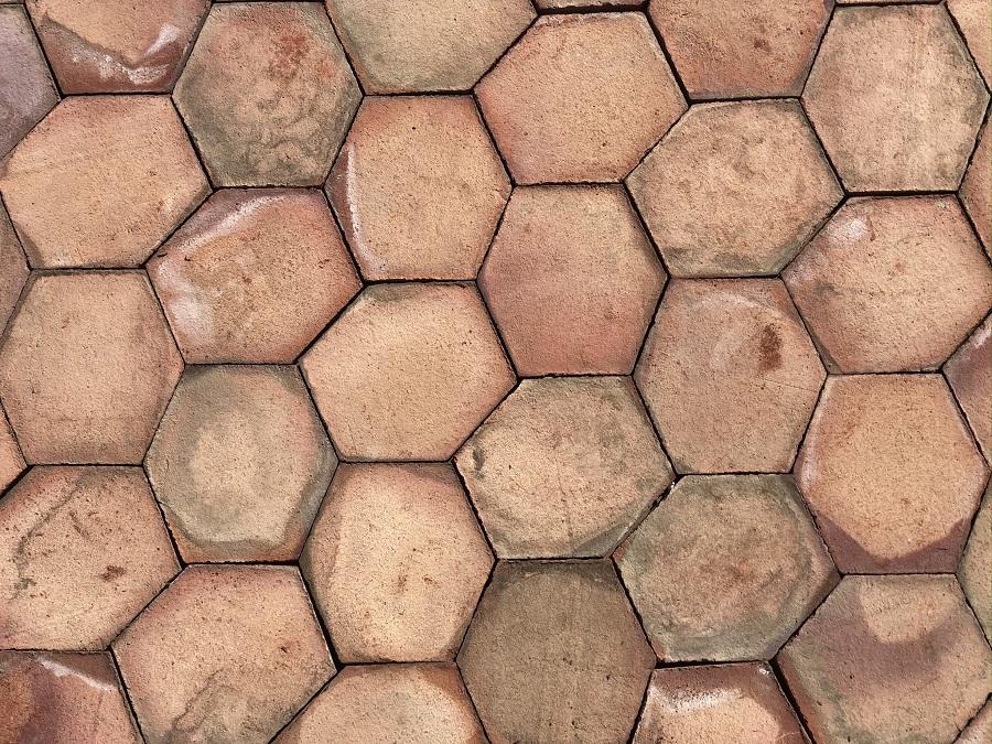 Mosaico Hexágono Asimétrico Composición Trabado 02