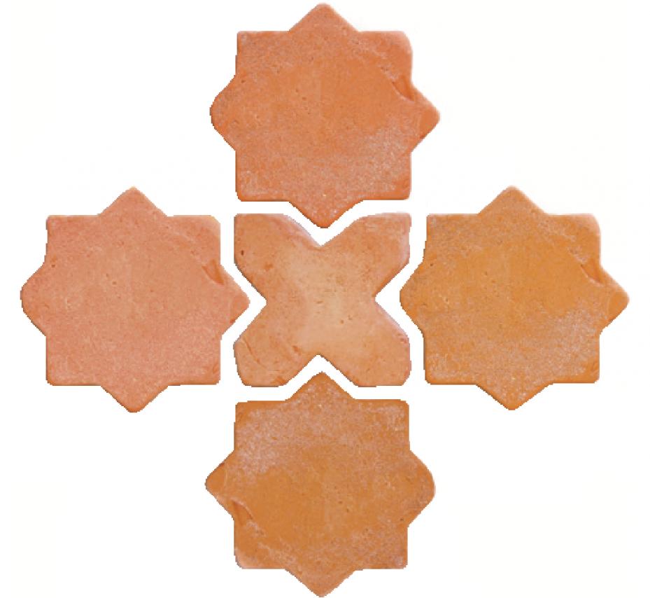 Baldosa-de-barro-combinación-estrella+cruz-rustico-antiguo